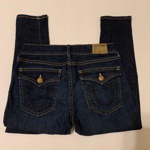 True religion Flap pocket dark wash skinny jean